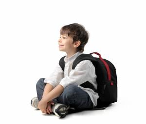 школьник с рюкзаком