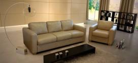 Правила ухода за кожаным диваном