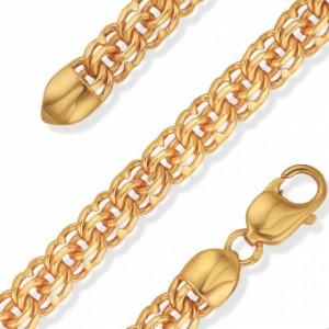 Золотые женские цепочки плетения Бисмарк