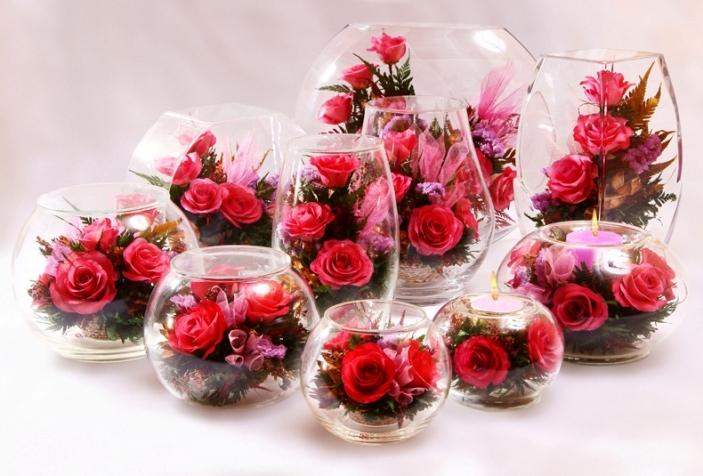 Цветы в стекле купить