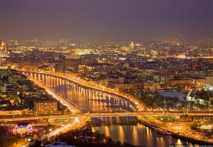 Самые красивые места ночной Москвы