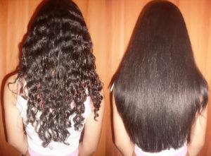 выпрямление-волос